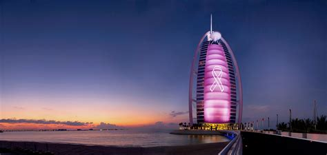 burj al arab burj al arab jumeirah turns pink for breast cancer