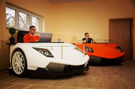 Set Up Office In Lamborghini Style Lamborghini Style Desk Car Office Desk