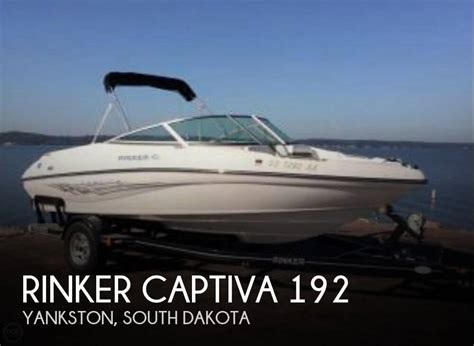 deck boats for sale south dakota for sale used 2008 rinker captiva 192 in yankston south