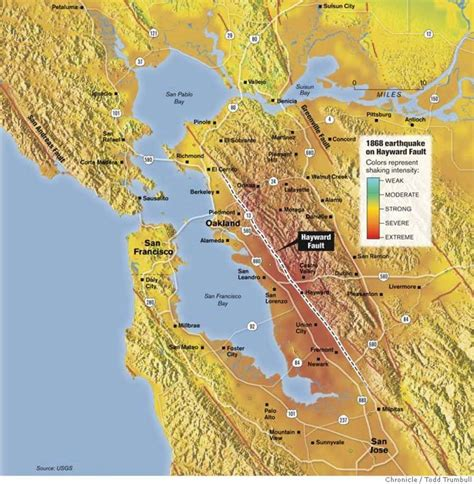 hayward fault map hayward fault is our deadliest a tectonic time bomb sfgate