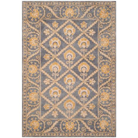 Blue And Gold Area Rugs Safavieh Legend Blue Gold 6 Ft X 9 Ft Area Rug Pl819c 6 The Home Depot