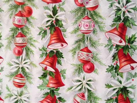 2 sheets vintage christmas wrapping paper