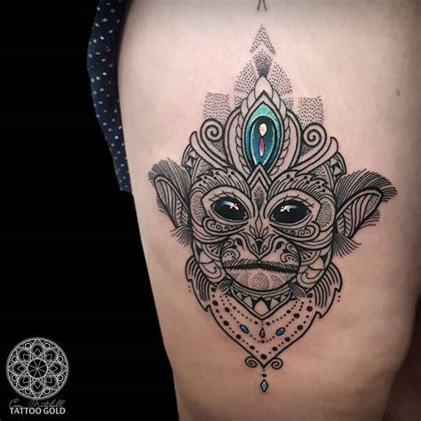 year of the monkey tattoo designs mosaic squirrel monkey thigh best design ideas