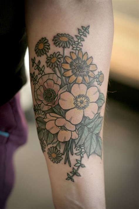 wild flower tattoo 157 best images about tattoos on
