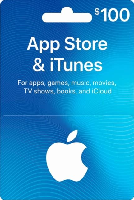 Itunes Gift Card For Apple Store Purchases - apple 100 app store itunes gift card multi itunes 0114 100 best buy