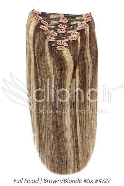 Hairclip 7 Revolution Premium premium clip in remy human hair extensions ebay