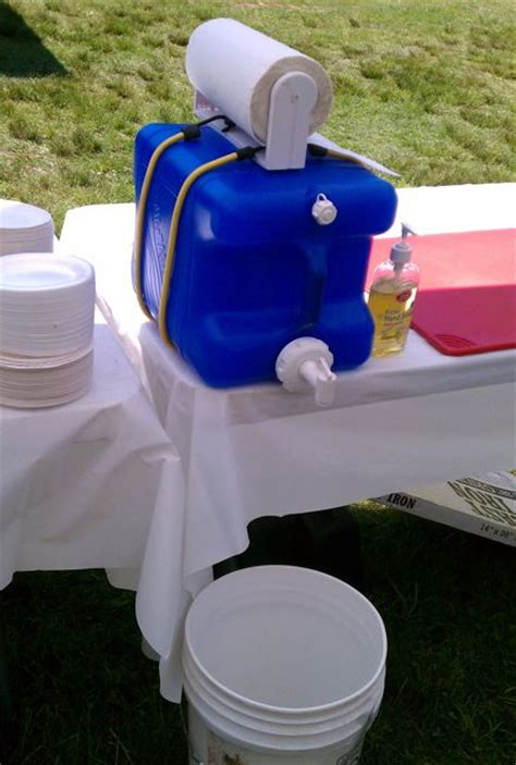 portable shoo sink with waste container 30 diy cing sink keep clean without a water source