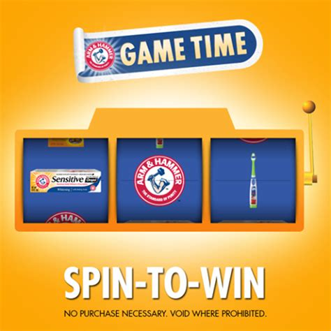 Instant Win Games - arm hammer switch save spin to win instant win game thrifty momma ramblings