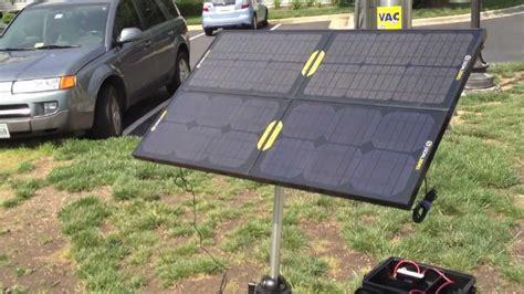 Lu Emergency Solar Cell emergency solar generator with goal zero boulder 15 panels