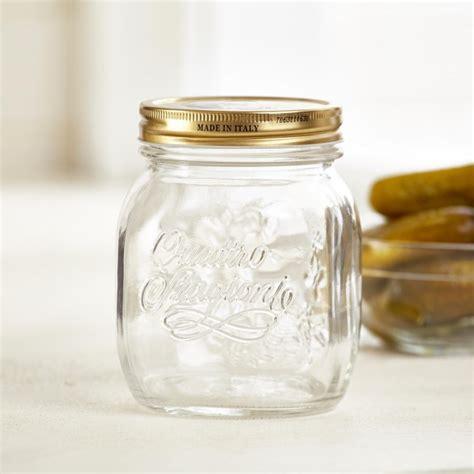 Quattro Stagioni Jar W Lid 1l bormioli quattro stagioni glass canning jar clear
