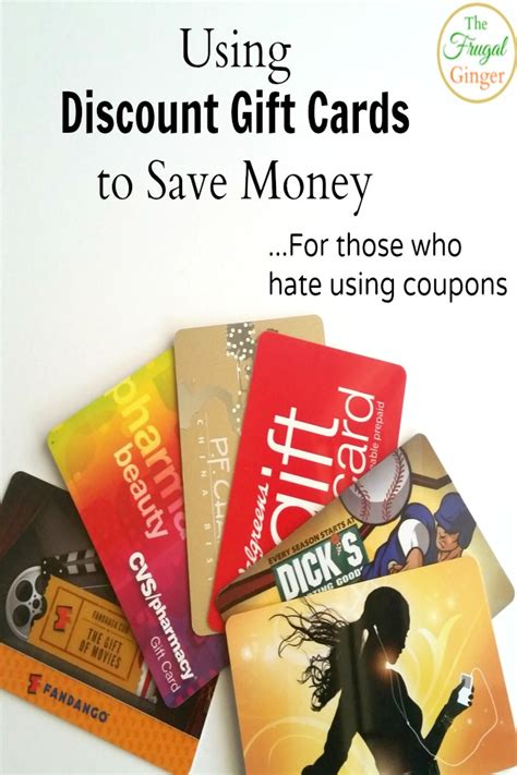 Gift Cards For Discount - using discount gift cards to save money