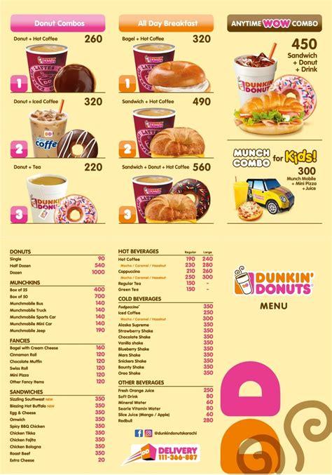 menu dunkin donuts dunkin donuts karachi menu deals kfoods