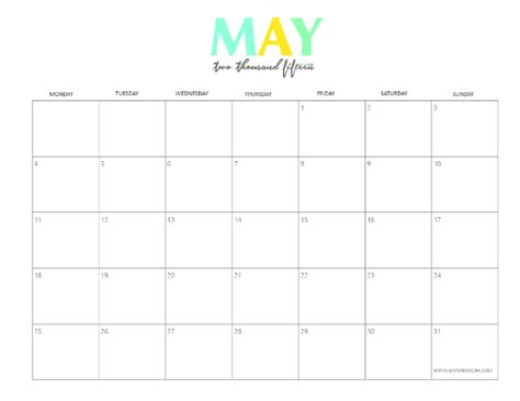 Calendar May 2015 8 Refreshing Designs Free Printable May 2015 Calendars