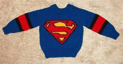 knitting pattern for spiderman jumper superman child s sweater knitting