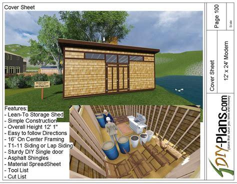 modern shed plan