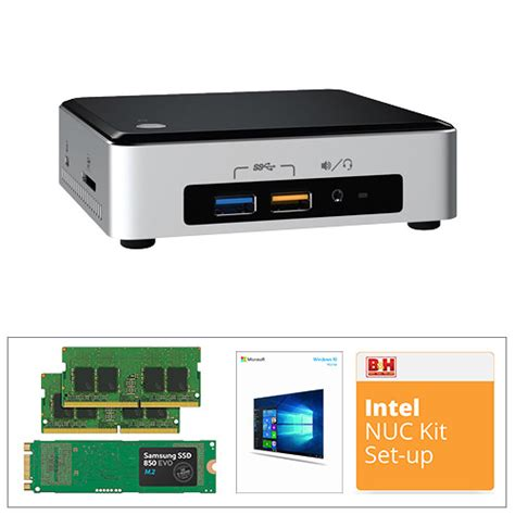 install windows 10 nuc intel mini pc nuc kit with 250gb m 2 ssd 16gb of ddr4 ram
