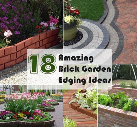 Brick Border Garden Edging Ideas 18 Brick Garden Edging Ideas That Looks Amazing Gardenoid