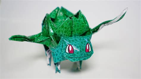 How To Make Origami Bulbasaur - origami bulbasaur tutorial diy henry phạm