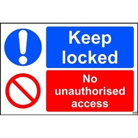 No Keep keep locked no unauthorised access sign kpcm display