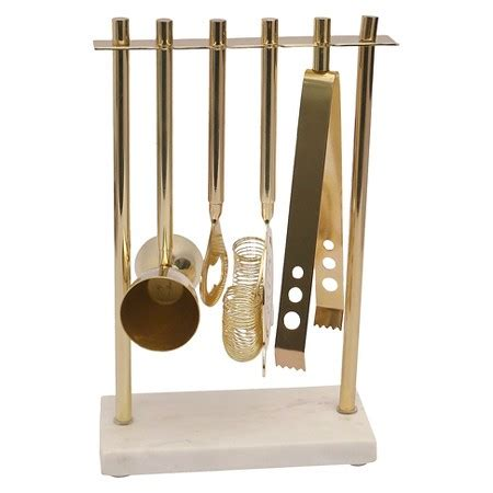 barware sets marble gold barware tool set threshold target
