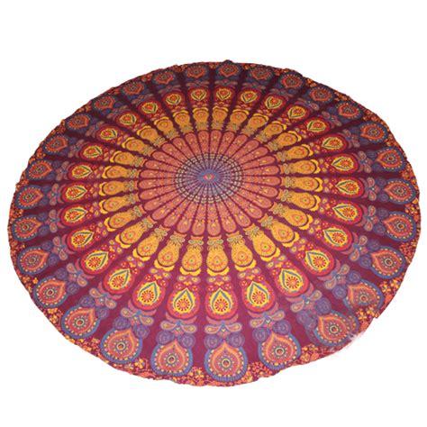 Handmade Mandala - handmade sanganeer peacock mandala tapestry