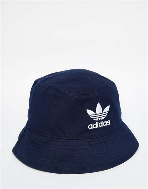 adidas hat adidas originals bucket hat blue in blue for men lyst