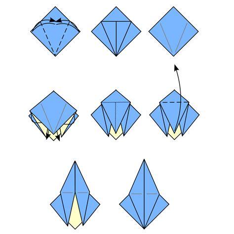 Origami B - file origami petal fold svg wikimedia commons