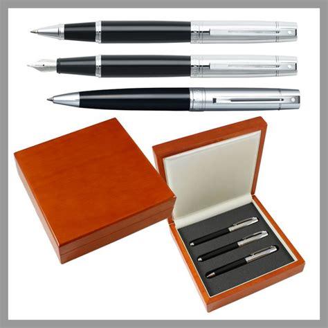 desk pen sets engraved sheaffer 300 black chrome 3 piece executive engraved