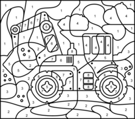 truck color by number coloring pages vehicles coloring online