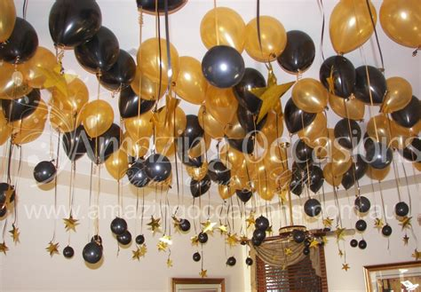Simple Birthday Party Decorations Home by Black And Gold Balloon Table Decorations Party Themes