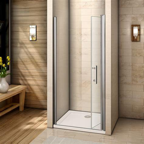 1000 Pivot Shower Door Frameless Pivot Bifold Shower Enclosure Door Glass Screen Panel 760 800 900 1000 Ebay