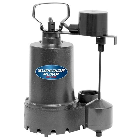 sump pumps superior 1 3 hp submersible cast iron sump 92341 the home depot
