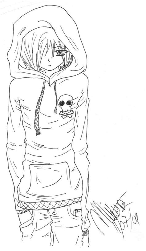Anime Boy Coloring Pages Pinterest The World S Catalog Of Ideas by Anime Boy Coloring Pages