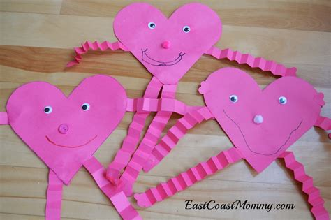 Construction Paper Valentines Day Crafts - east coast 5 simple s day crafts for