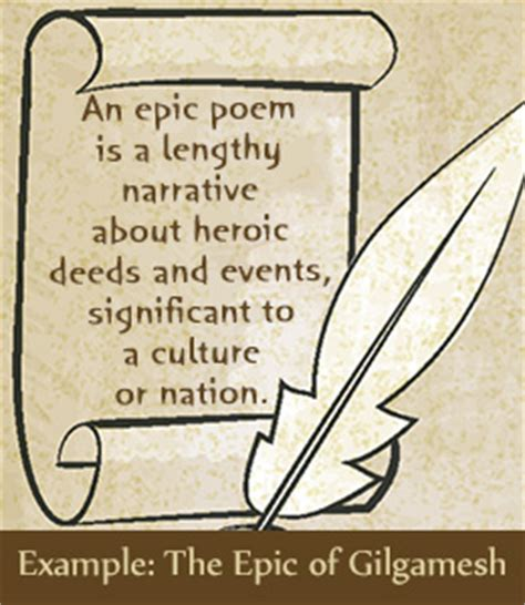epic poetry characteristics elements and exles