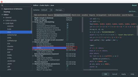Format File Intellij | how to format code like c style for java in intellij