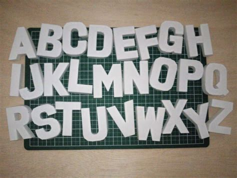 3d alphabet series 2 free papercraft download