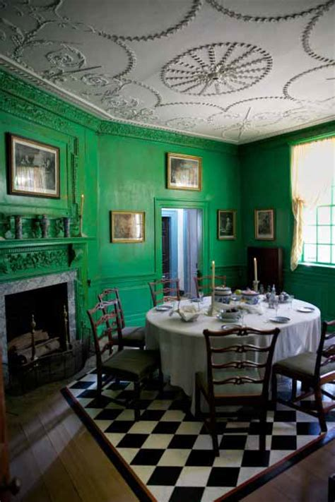 Dining Room Green Park Historic Color Mount Vernon Green Sensational Color