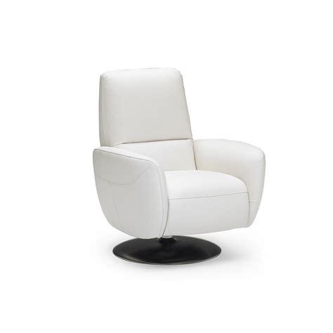 Natuzzi Italia Genny Reclining Swivel Chair