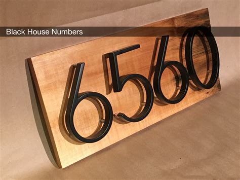 house numbers modern black house numbers on salvaged by midwestsalvagestudio