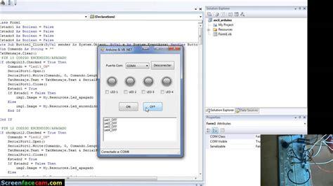 tutorial arduino visual basic arduino y vb net 4 leds youtube