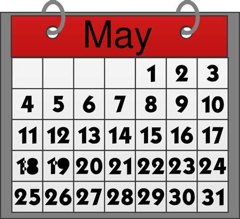 Calendar Image May Calendar Clip At Clker Vector Clip