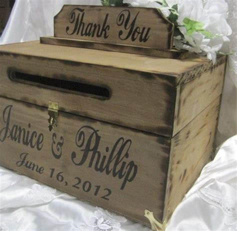 20 creative wedding card box ideas many brides are dying for - Wooden Wedding Card Holder