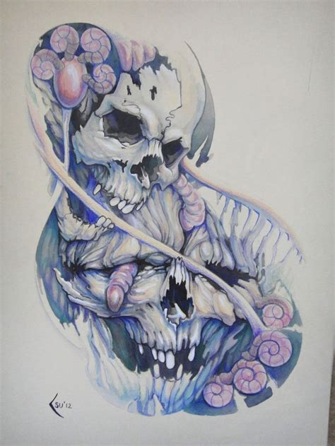 skull tattoo drawings smoke tattoos designs skull tattoos
