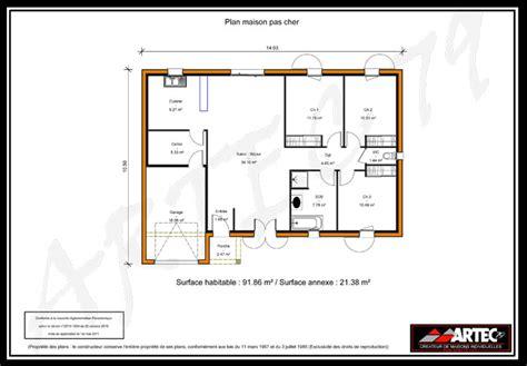 Plan Maison 100m2 Plein Pied 4115 by Plans De Maisons Constructeur Deux S 232 Vres