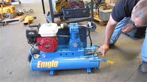 emglo wheelbarrow air compressor honda gas powered 5hga 8p 8 gallon