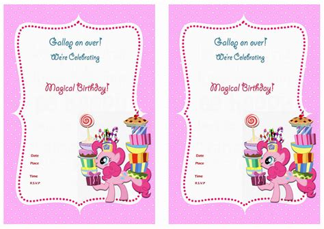 printable birthday invitations my little pony my little pony birthday invitations birthday printable