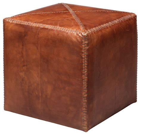 southwestern ottoman tobacco leather ottoman southwestern footstools and
