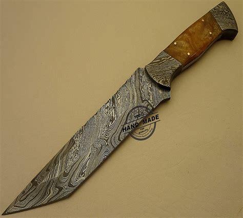 damacus knives damascus bowie knife custom handmade damascus steel