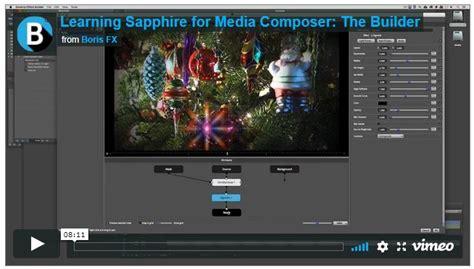 tutorial avid fx boris fx tutorial sapphire builder for avid media